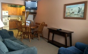 Griz Inn Fernie – 1-Bedroom Apartment – Unit 103-Living-Room