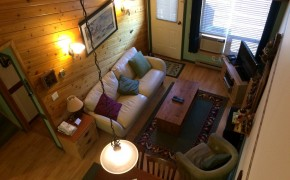 Griz Inn Fernie – 1-Bedroom Loft – Unit 302 Living Room